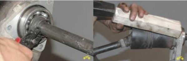 Замена подшипника и сальника корпуса