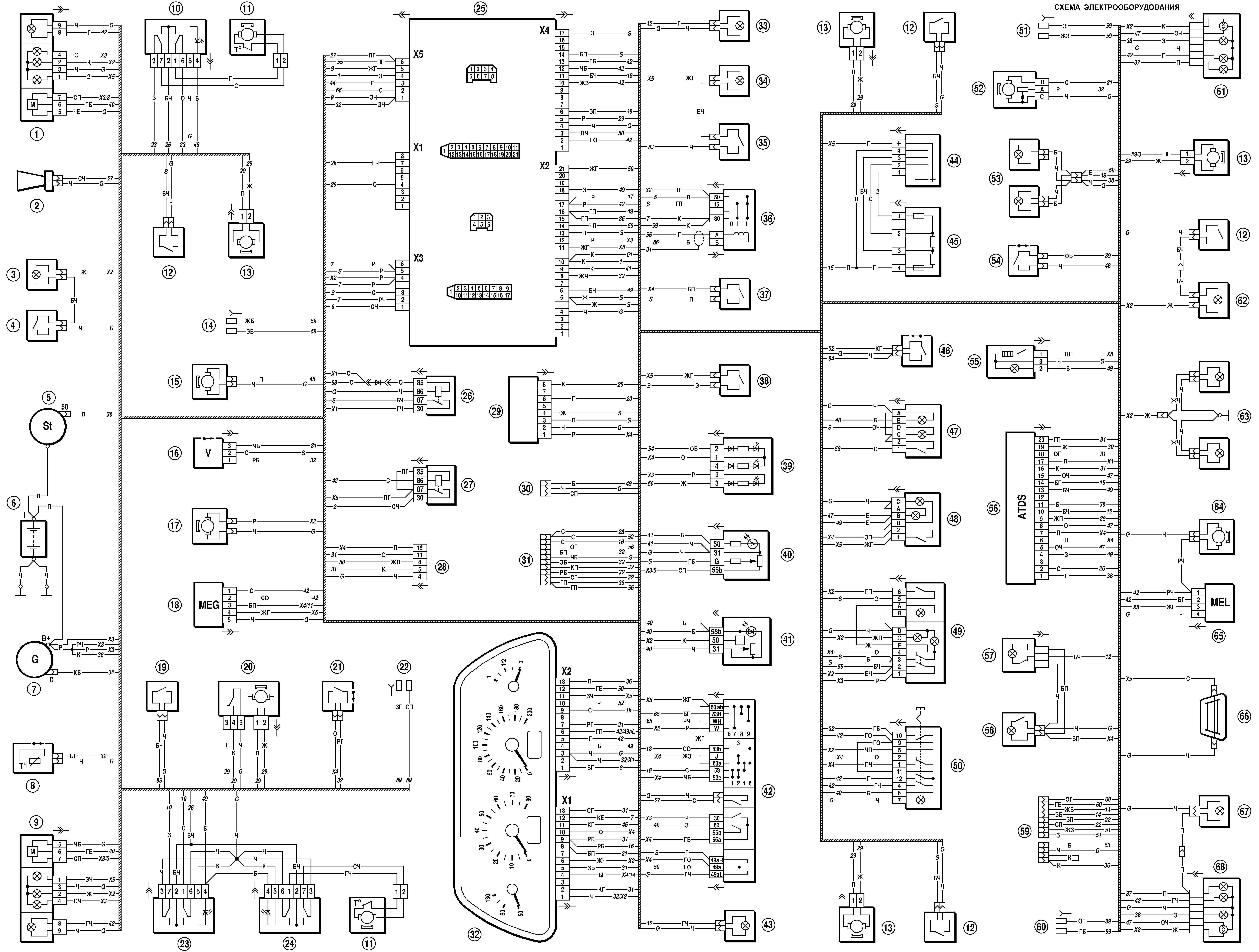 Схема электро цепи Нива Шевроле