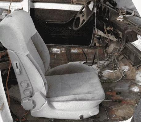 Установленное кресло