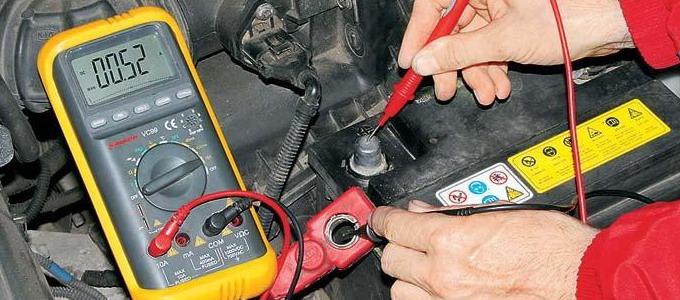 проверка утечки тока в автомобиле мультиметром
